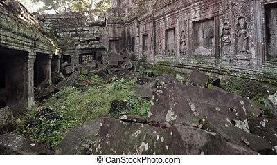 Sunshine Glaring from Behind the Ancient Ta Prohm Temple...