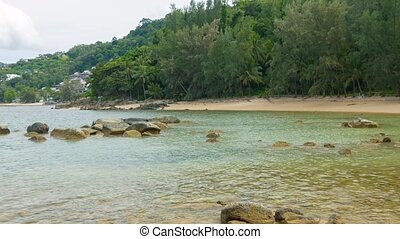 Sandy Tropical Beach near Luxury Resort Complex in Thailand...