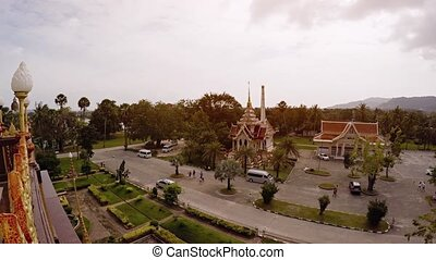 "View from atop Wat Chalong - ""View of the courtyard and..."