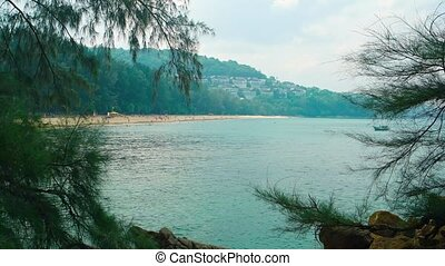 Popular Tropical Beach in Thailand from Concealed Vantage...