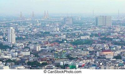 Sprawling Urban Landscape of Bangkok - Sprawling urban...