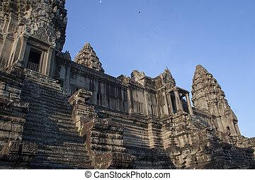 Landscape of Angkor ruins at Siem Reap