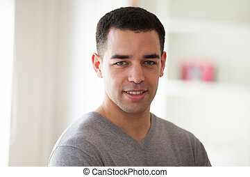 Young latin American man portrait