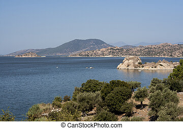Bafa Lake landscape with great nature - Aydin - Turkey