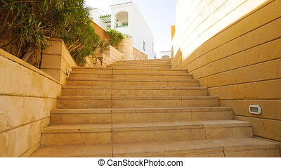 stone staircase in the territory of hotel in Egypt
