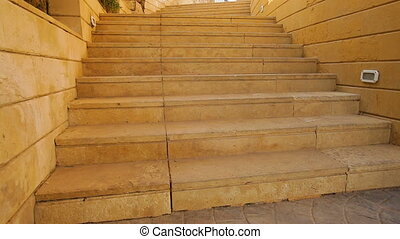 stone staircase in the territory of hotel in Egypt.