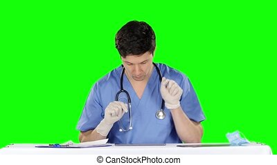 Crazy doctor Green screen - Crazy doctor, doctor using...