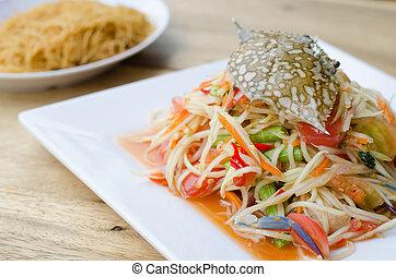 papaya salad with blue crab  - papaya salad with blue crab