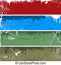 Grunge panels - Collection of grunge backgrounds