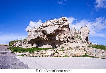Rocca di Cerere, Enna - View of the Rocca di Cerere in Enna,...