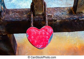 design element. love lock image