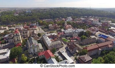 Roman Catholic Cathedral Aerial filming 4k
