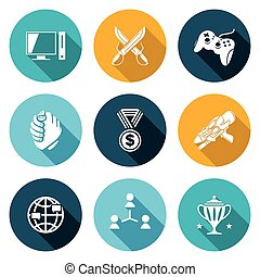 eSports Icons Set. Vector Illustration. - Isolated Flat...