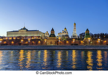 View of the Moscow Kremlin,Russia - View of Moscow Kremlin...