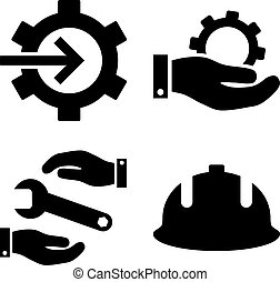 Development Flat Vector Icons