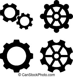 Gears Flat Vector Icons