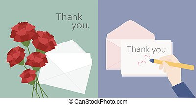 illustration for thanks card