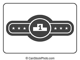 Champion belt icon 2