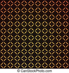 Gold geometric retro abstract seamless cube pattern with...