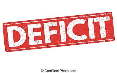 Deficit grunge stamp - Deficit grunge rubber stamp on white...
