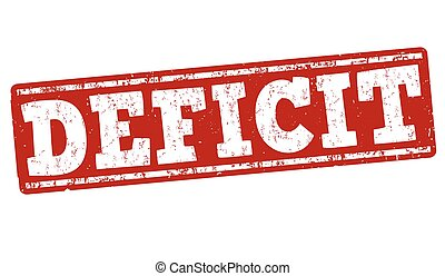 Deficit grunge stamp - Deficit grunge rubber stamp on white...