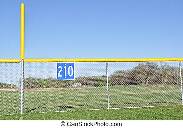 Baseball Foul Pole and Outfield Fence - Little League...