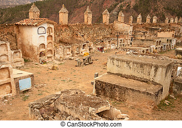 Old cementery in the Andes Of Peru