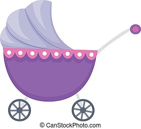 Baby Carriage - Vector Illustration of Baby Carriage