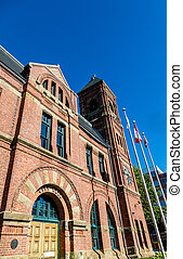 City Hall in Charllotetown - Old Brick city hall in City...