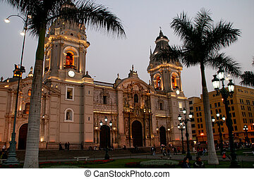 The Plaza In the Centro Of Lima, Peru