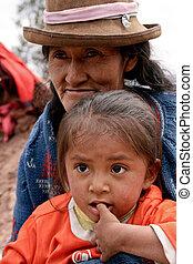 pobre, criança, em, Cuzco, Peru, SUL, América
