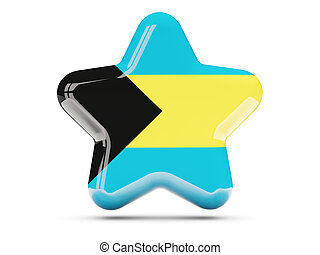 Star icon with flag of bahamas