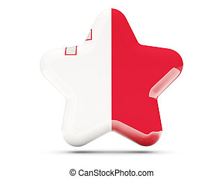 Star icon with flag of malta