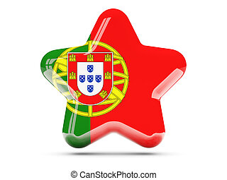 Star icon with flag of portugal