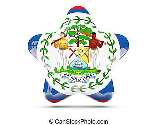 Star icon with flag of belize