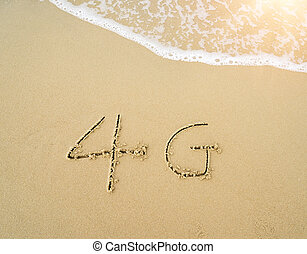 4g written in the sand