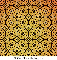 Gold geometric retro abstract seamless pattern Vintage party...