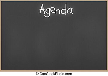 Chalkboard with text Agenda