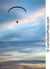 Paraglider in the sky