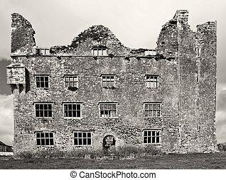 old irish ancient irish castle,west of ireland