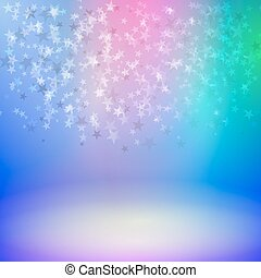 Falling stars on stage - Vector illustration background...