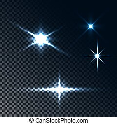 Glowing light effect stars - Set of glowing light effect...