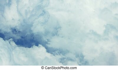 Airborne view of dense clouds from above - Thick, heavy,...