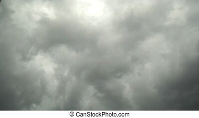 Time lapse of storm clouds moving fast