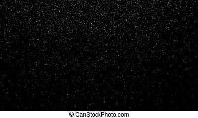 Snowfall Strong - Snow falling on black background