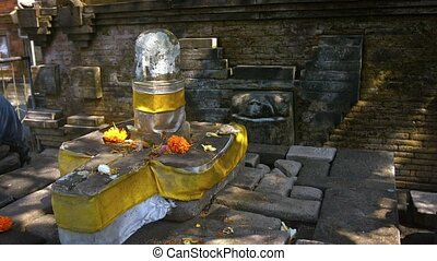 """Altar to Shiva at Tirta Empul Hindu Temple in Bali, Indonesia"""