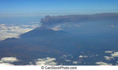 """Column of Ash and Smoke from Ruang Volcano in Bali,..."