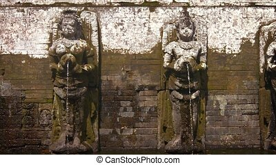 quot;Ancient Stone Fountain Sculptures at Tirta Empul Hindu...
