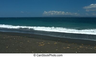 """Natural Black Sand Tropical Beach in Bali, Indonesia"" -..."
