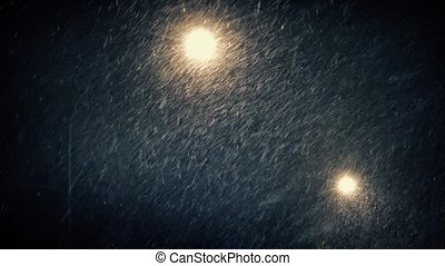 Streetlights In Snowy Weather - Couple of street lights...